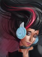 Speed: Girl with Headphones by JNetRocks