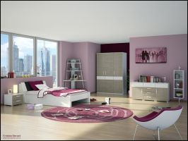 3D Bedroom 4 by FEG