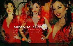 Miranda kerr in Red by Miss-BarbieDoll