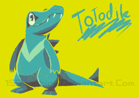 Totodile by Ryan-sprite