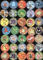 My pokemon tazos by Adhir1995