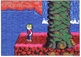 Commander Keen Pixel Drawing by Memsys