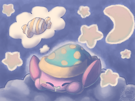Sleep Kirby--Sweet Dreams by EquidnaRojo