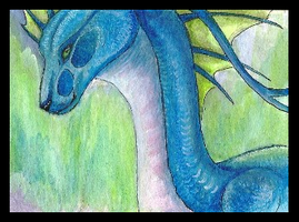 ACEO Mystalia: Northern Lights by LabradoriteWolf