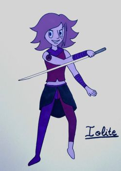Iolite - Gemsona Commission by MelodyLawrenceArt