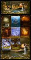 Four Elements of Nature backgrounds by moonchild-ljilja