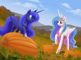 Pumpkin Picking by JoelletheNose