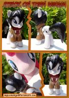 Attack on Titan MIKASA Custom Pony by HeyLookASign