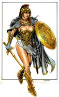 Wonder Woman in armor by Reverie-drawingly