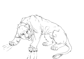 Born to Die -lineArt- by AnaghaBloodpaw