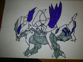 Shiny White Kyurem by KunYKA