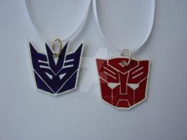 Autobot Decepticon Pendants by Letohatchee