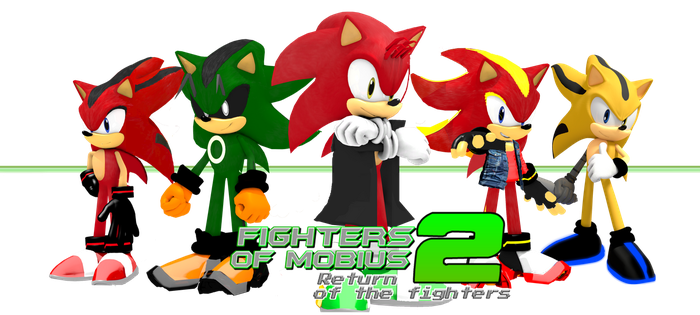 The Fighters of Mobius 2 Poster (old roleplay) by DanteTheGamerSG