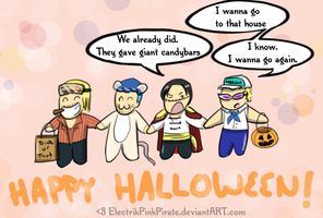 Happy Halloweeners :D by ElectrikPinkPirate