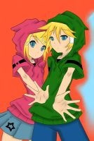 Len and Rin Kagamine by TMNTarecool