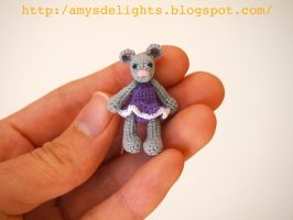 Miniature Crochet Mouse by craftersdelights
