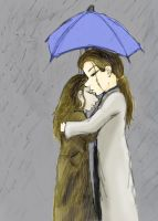 Together in the rain by Scrann