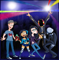 Com: Partying with my electro-idols by jani-lee