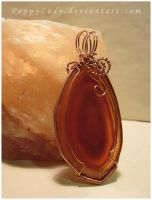 'Candle Flame' agate pendant by PoppyLady