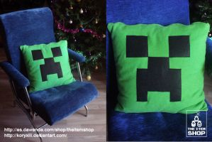 Creeper cushion! by KoryXIII