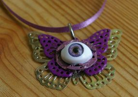 One-eyed Purple Butterfly by SleeplessStoryteller