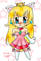 Chibi Kitty Peach by demoness