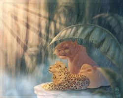 A Tranquil Rain in Paradise by scullyiza