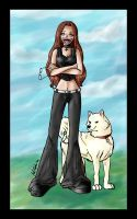 Me and Kiba - Colour by Avro-Chan