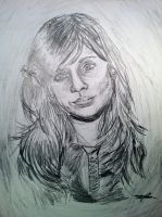 20 Min drawing Zooey Deshancel by syril32