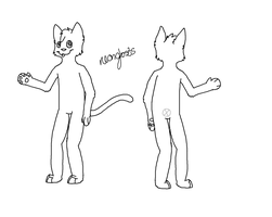 Anthro Cat Lineart by Ghost-adopt