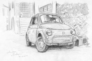 Fiat 500 - pencil by AndreaSchepisi