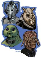 Doctor Who Aliens by D-MAC