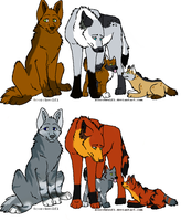 wolf adoptablez by poisonflame