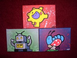 Zwei Graffiti Canvases by SUREGRAFFITI