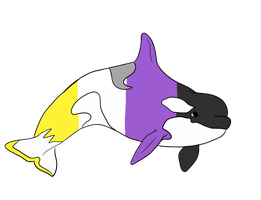 Pride Whales-Non Binary by CorkyII