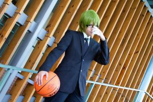 Kuroko no Basuke Midorima at convention 1 by sharuruka