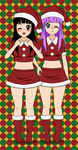 DBZ: Kisekae 2- Christmas Teen Pan And Bra by Knuxamyloverfan