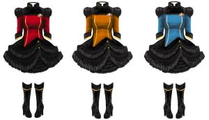 Star Trek The Next Generation Gothic Lolita OPs by reneedicherri