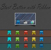Start Button with Ribbon by DemchaAV