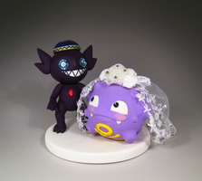 Koffing and Sableye Cake Topper
