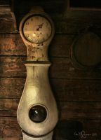 Old Grandfather Clock by Pajunen