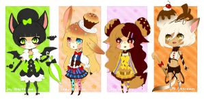 [ADOPTS]: Sweets Ladies /CLOSED/ by manisaurus