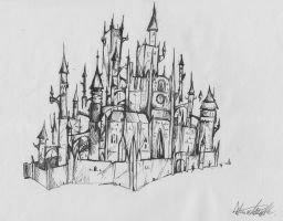 Castle Sketch by alessandelpho