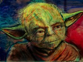 Yoda face by AnnarXy