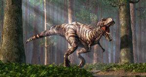 TRex in the Forest by deskridge