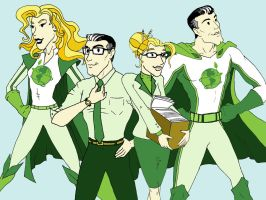 Green Superheroes by Andyfll