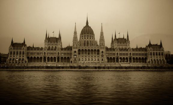 Parliament Building, Budapest, Hungary by shhhhh-art
