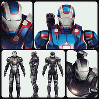 Iron Man 3 Iron Patriot/War Machine by Supahboy
