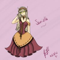 Sariella Rosewood (color) by AriesMouse410