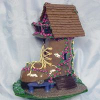 OOAK Boot House sculpture by CreativeCritters
